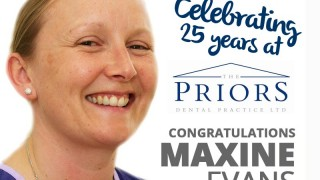 Maxine Evans celebrating 25 years at The Priors
