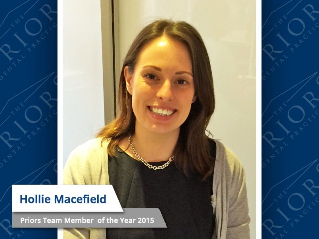 Hollie Macefield - Team Member of the Year 2015
