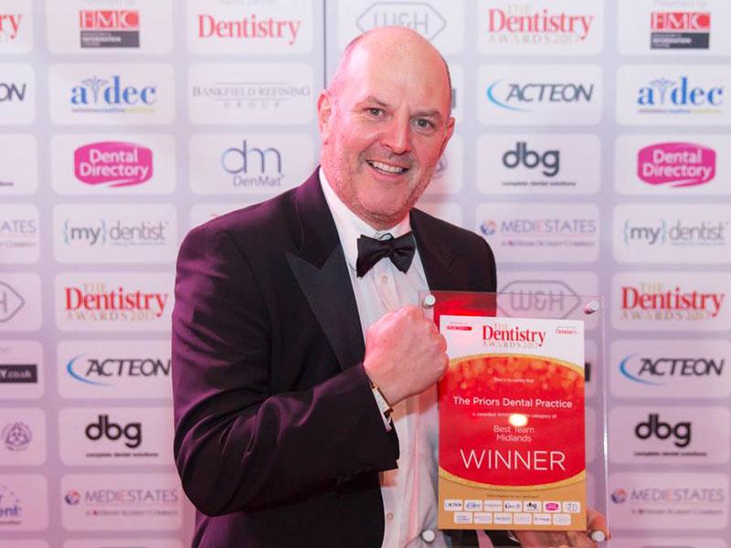 Mark Emms at The Dentistry Awards 2017